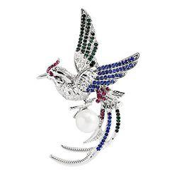 YouBella Jewellery Gracias Collection Bird Shape Unisex Brooch for Men/Women/Girls