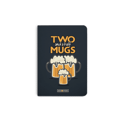 Beer 2.5 Mugs A5 Notebook Plain