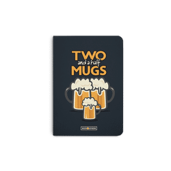 Beer 2.5 Mugs A6 Notebook Plain