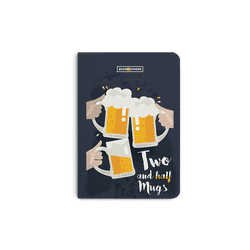 Beer 2.5 Mugs Clink A5 Notebook Plain
