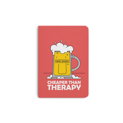 Beer Cheap Therapy A5 Notebook Plain