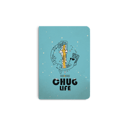 Beer Chug Life A5 Notebook Plain