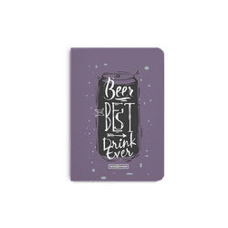 Beer Da Best A5 Notebook Plain