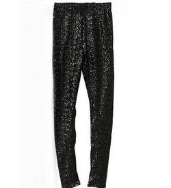 Black Sequin Shimmer Leggings
