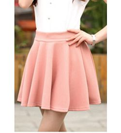 Pastel Pleated Mini Skirt