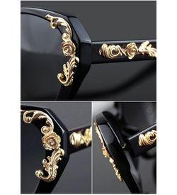Gold Tone Oversize Sunglasses