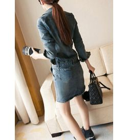 Denim Fit Dress