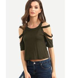 Cut Out Short Sleeve T-Shirt