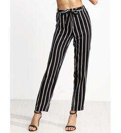 Monochrome Striped Pants