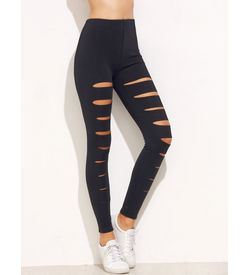 Black Ripped Skinny Leggings