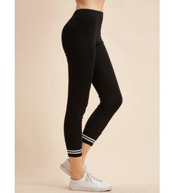 Black trim Stripe Leggings