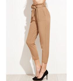 Khakhee Ruffle Pants
