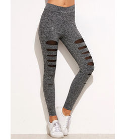 Grey Melange Leggings