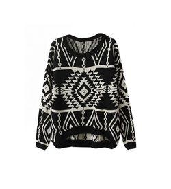 Black Aztec Sweater