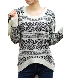 Printed Monochrome Sweater