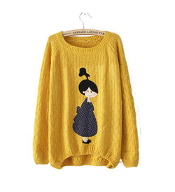 Yellow Character Sweater