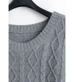 Grey A-Line Pullover