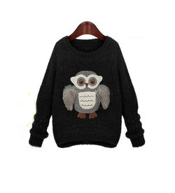 Black Owl Sweater