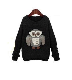 Black Owl Sweater