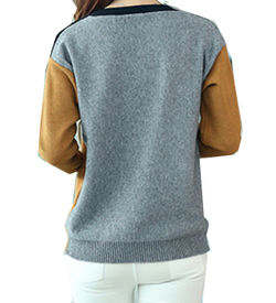 Colour Block Worsted Sweater