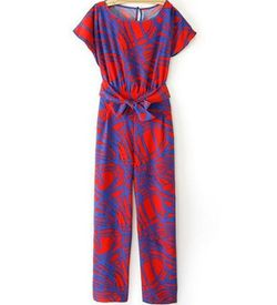 Contrasting Red Jumpsuit