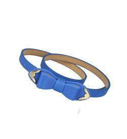 Blue Bow Belt