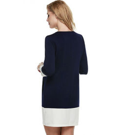 Navy Blue Shift Mini Dress