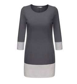 Grey Shift Mini Dress