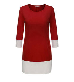 Red Shift Mini Dress