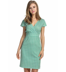 Green Cross Neck Dress