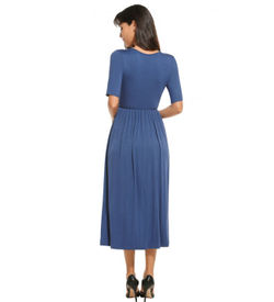 Blue Empire Casual Dress