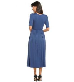 Blue Empire Casual Dress