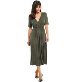Green Empire Casual Dress