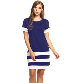 Blue Sporty Stripes Dress