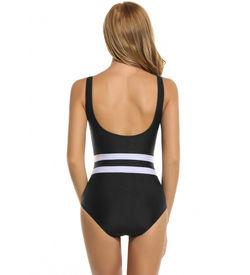 Black Striped Monokini