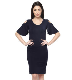 Ashley Flounce Sleeve Dress