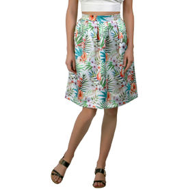 Tropical Island Midi Skirt