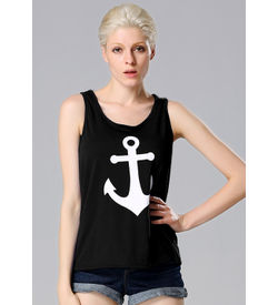 Black Anchor Tank Top