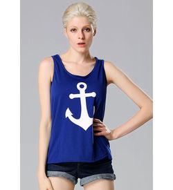 Blue Anchor Tank Top