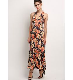 Sunflower Halter Maxi