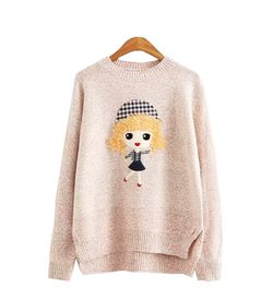 Pastel Pink Doll Sweater