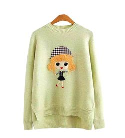 Pastel Green Doll Sweater