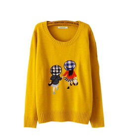 Mustard Cartoon Pullover