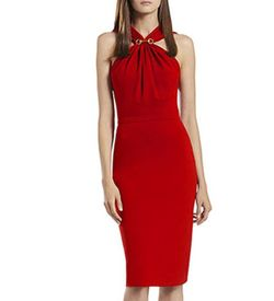 Red Evening Bodycon Dress