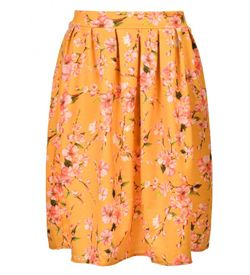 Spring Orchid Midi Skirt