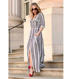 Stripe Shirt Maxi