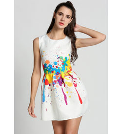 Color Splash Skater Dress