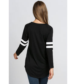 Caual Black Sporty Top