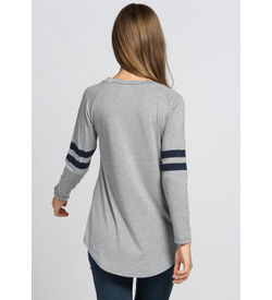 Casual Grey Sporty Top