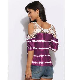 Violet Tie N Dye Top
